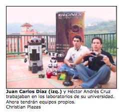 Bionix socios 2004 Juan carlos diaz y Andres Cruz