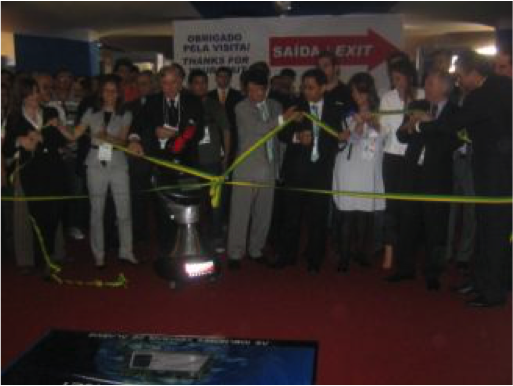 Feria de seguridad brasil robot vigilante